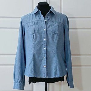 TOMMY HILFIGER button down chambray shirt
